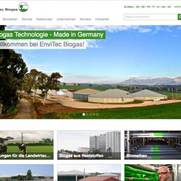 Neue Energie online –EnviTec Biogas im Web